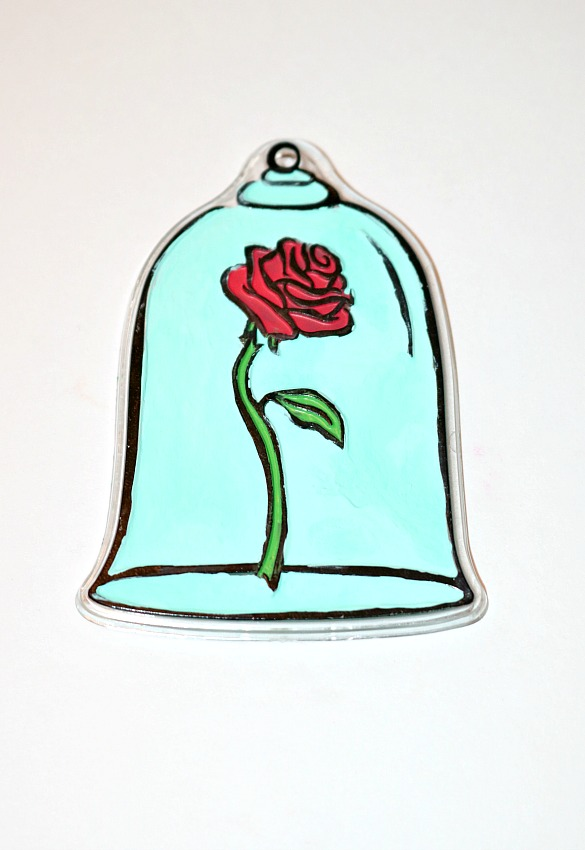 585x850 Diy Beauty And The Beast Rose Key Chain