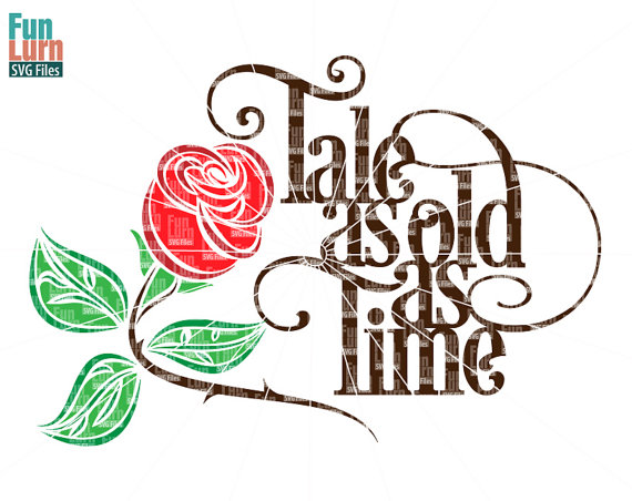 570x452 Tale As Old As Time Svg Beauty Beast Rose Svg Wedding