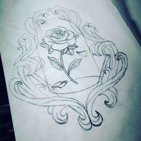 480x480 Sketch For New Tattoo Design. Beauty And The Beast Inspired Flower