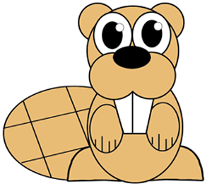 300x260 How To Draw A Cartoon Beaver With Easy Step By Step Drawing