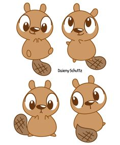 236x283 Simple Beaver Drawing