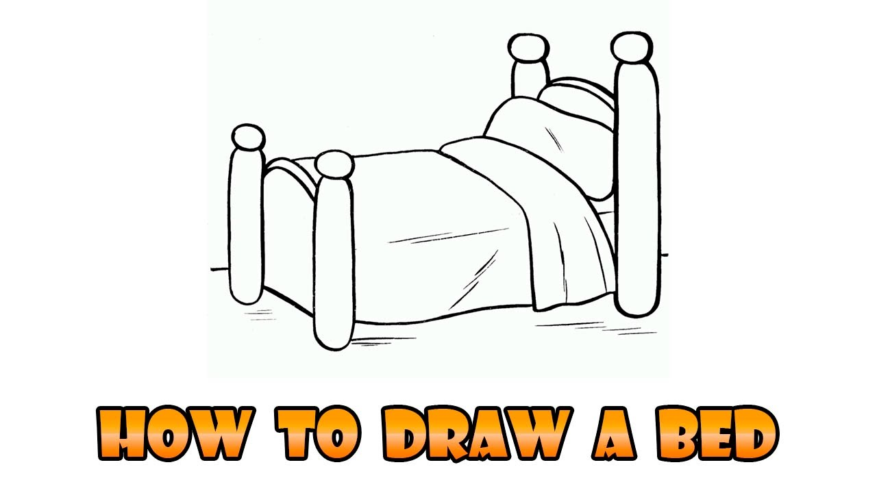 1280x720 How To Draw Bed