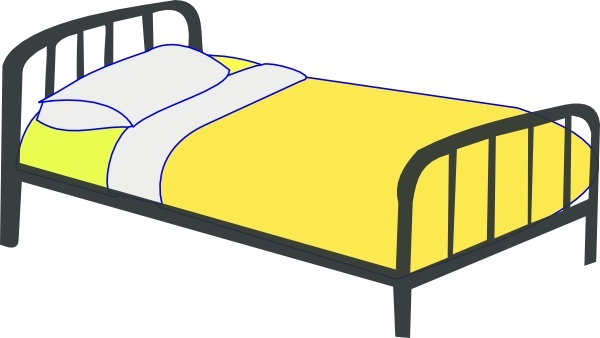 600x338 Single Bed Clip Art Free Vector In Open Office Drawing Svg ( Svg