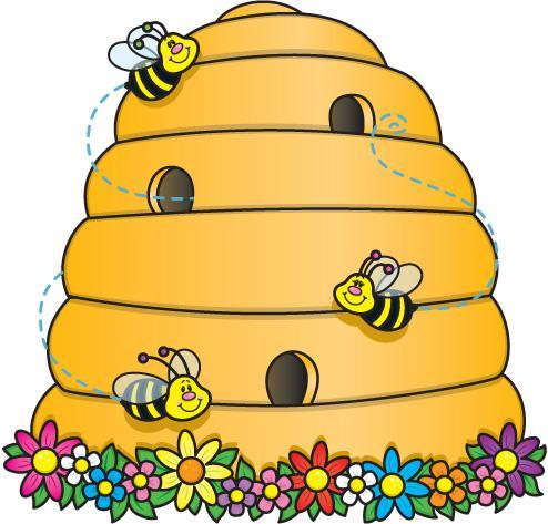494x473 Beehive Drawing