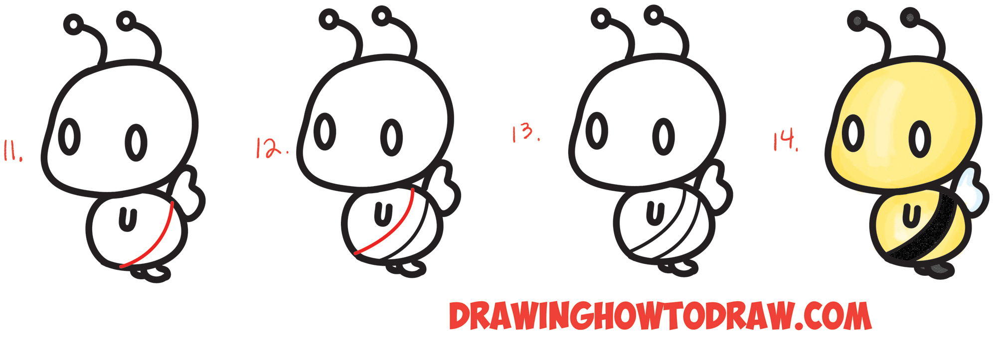 2000x677 How To Draw Cute Chibi Kawaii Characters With Number 3 Shapes