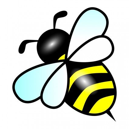 425x425 Line Drawing Simple Bee