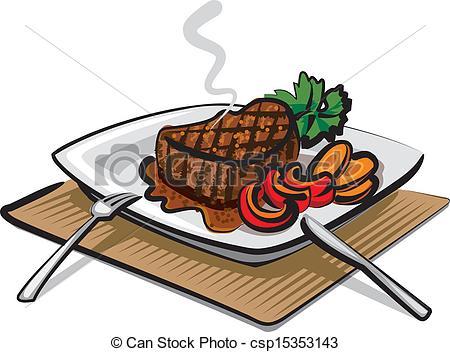 450x352 Grilled Beef Steak Eps Vector