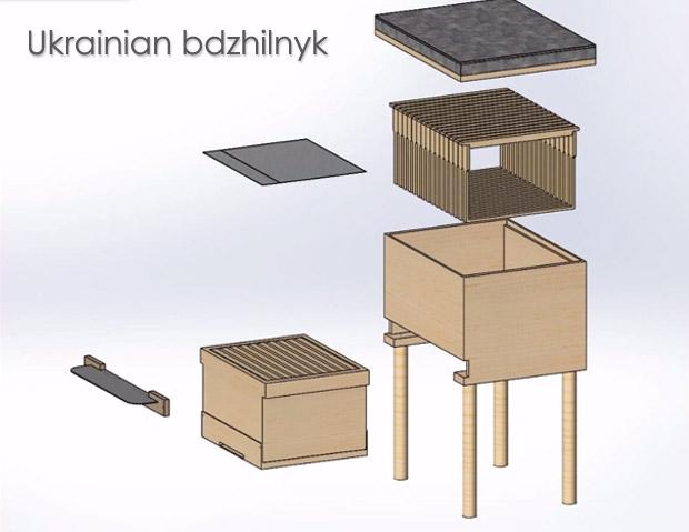 620x479 Ukrainian Bdzhilnyk Beehive Drawing Kovan Bee