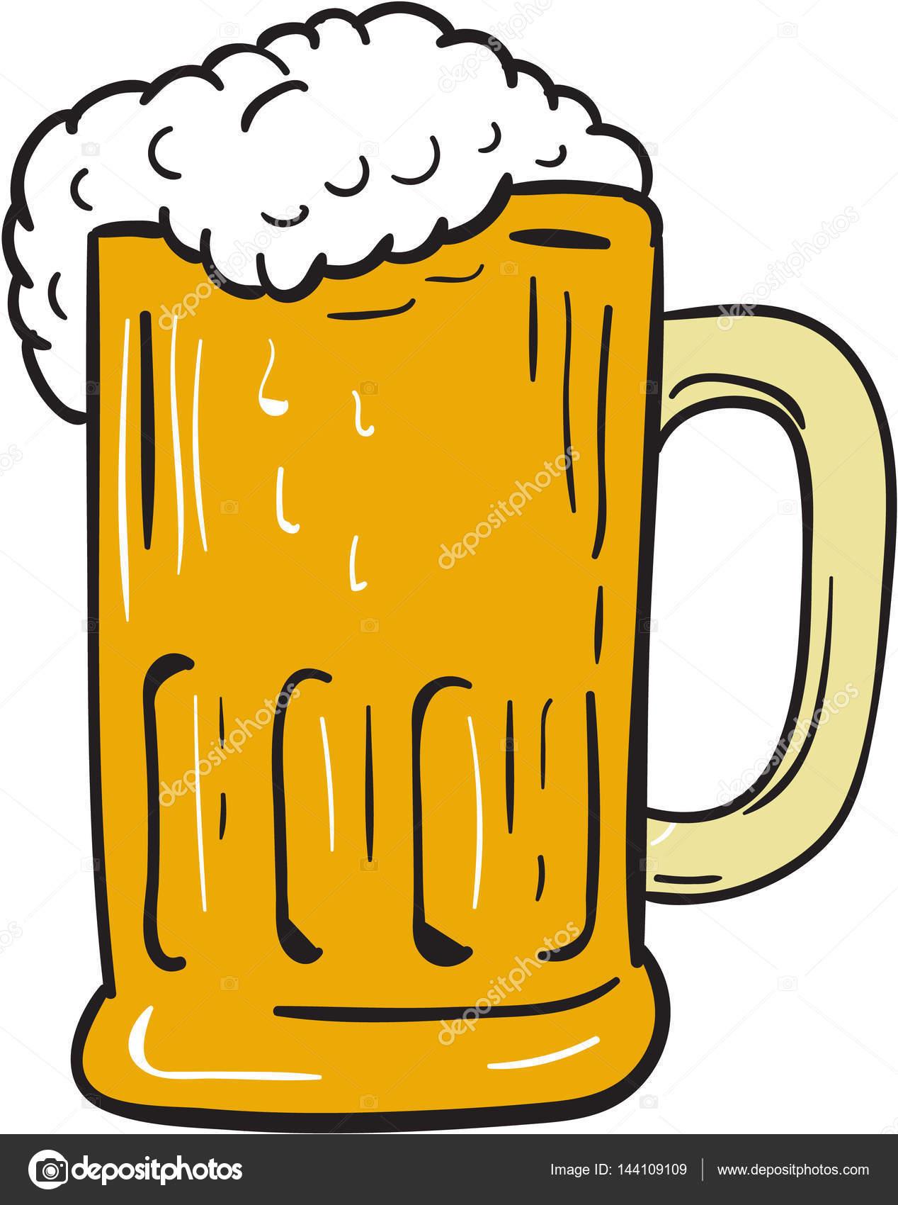 1268x1700 Beer Mug Drawing Stock Vector Patrimonio