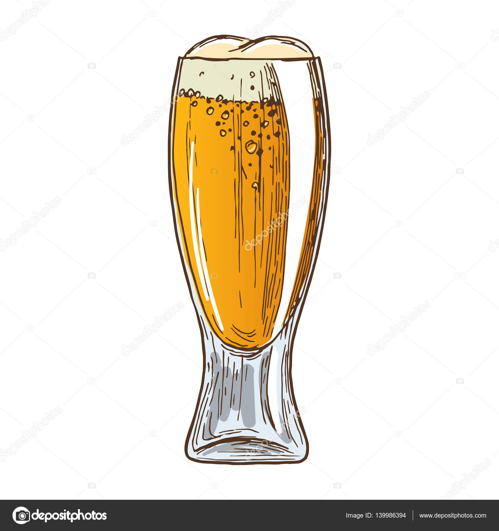 1600x1700 Beer Glass On White Background Stock Vector