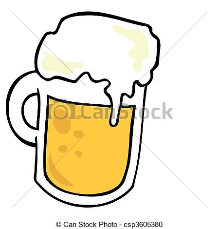 450x470 Beer Mug. Vector Clipart