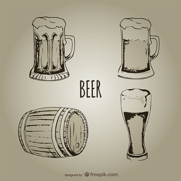 626x626 Beer Mugs And Glasses Vector Free Download