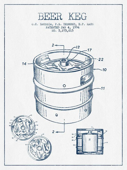 525x700 Beer Keg Patent Drawing