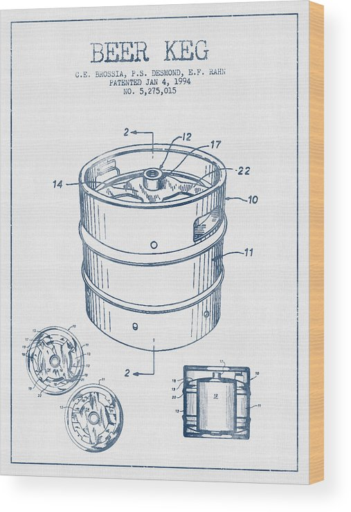 507x740 Beer Keg Patent Drawing