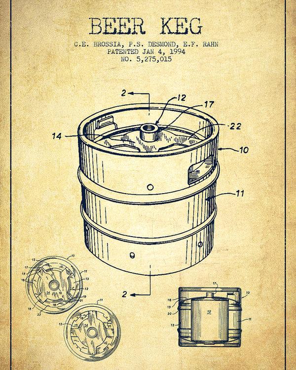 600x749 Beer Keg Patent Drawing