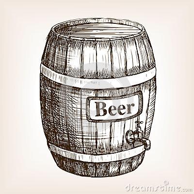 400x400 Drawn Beer Beer Barrel