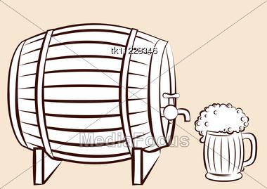 380x269 Stock Photo Beer Keg Glass Vector For Design