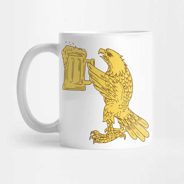 630x630 American Bald Eagle Beer Stein Drawing
