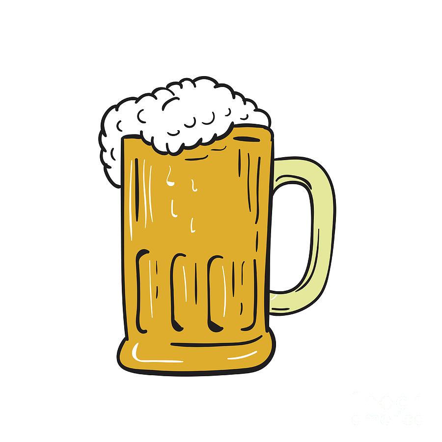 900x900 Beer Mug Drawing Digital Art By Aloysius Patrimonio