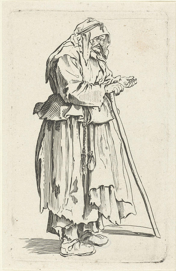 585x900 Beggar, Jacques Callot, Anonymous Drawing By Jacques Callot
