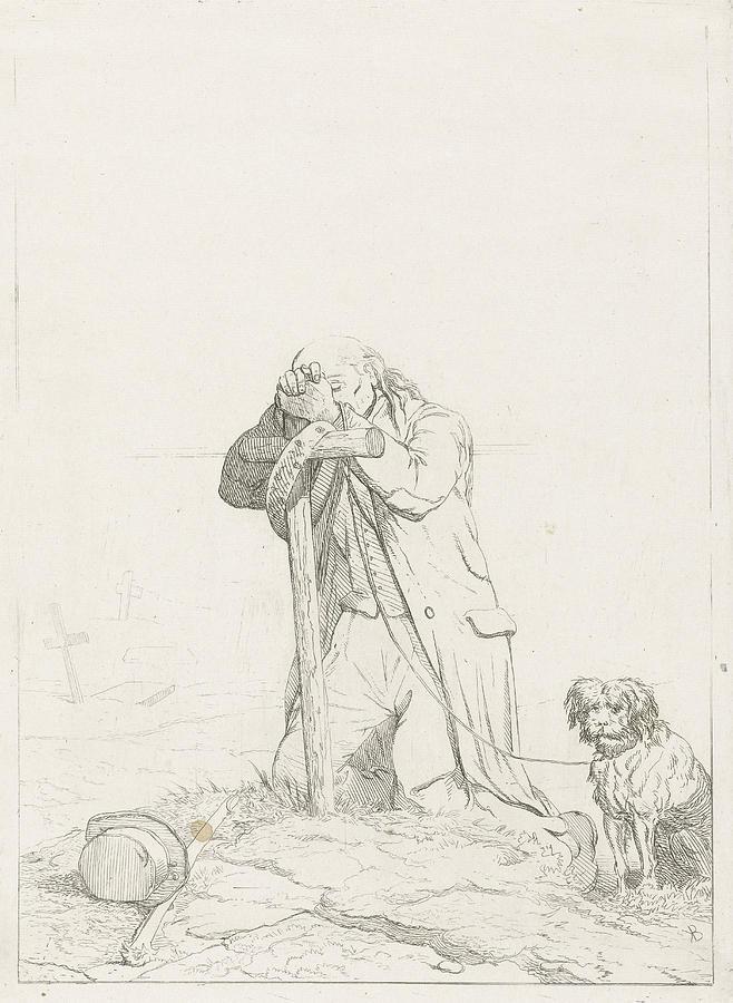 658x900 Beggar At A Cemetery, Karel Frederik Bombled Drawing By Karel