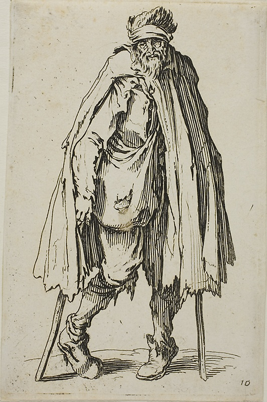 532x800 Beggar Leaning On A Stick, Plate Nineteen From Beggars