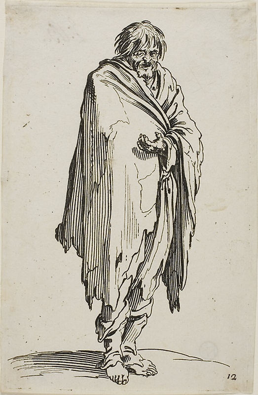 523x800 Beggar Without Hat Or Shoes, Plate Twelve From Beggars