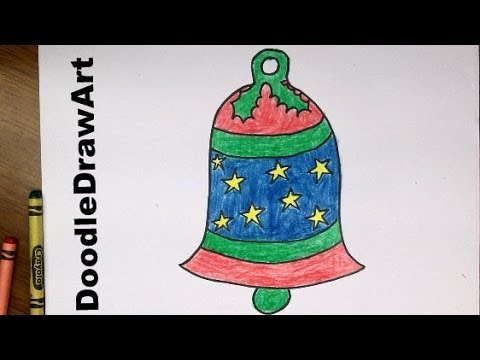 480x360 Drawing How To Draw A Cartoon Bell For Christmas
