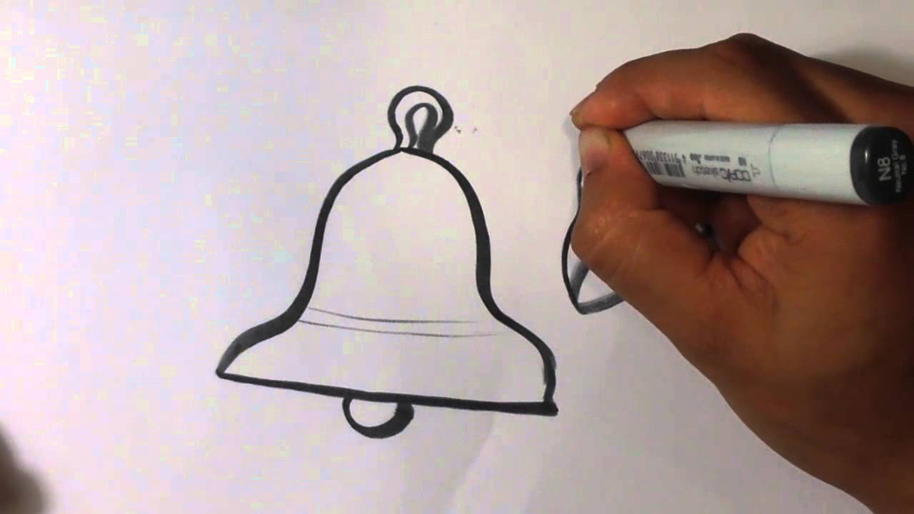1280x720 How To Draw A Bell