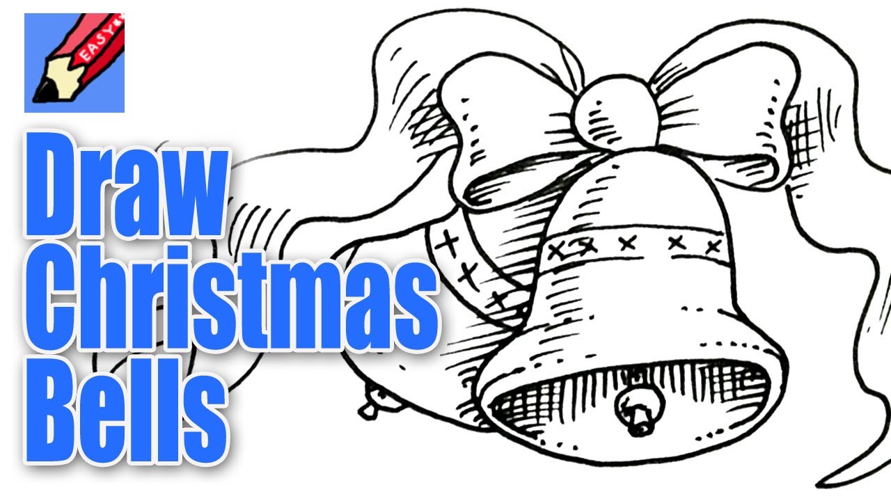 1280x720 How To Draw Christmas Bells Real Easy