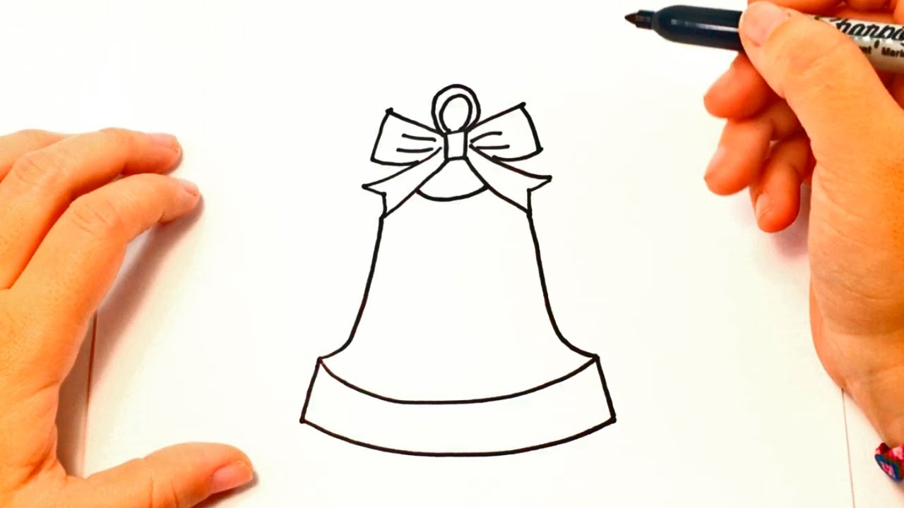 1280x720 How To Draw A Bell Bell Easy Draw Tutorial