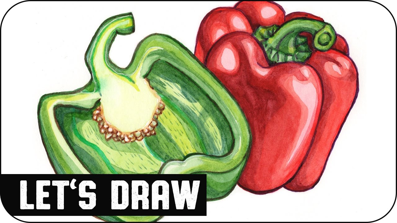 1280x720 Let's Draw Bell Pepper (Speed Painting) Voidea