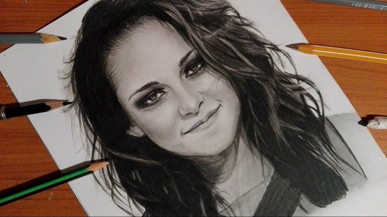 1280x720 Speed Drawing Kristen Stewart ( Bella Swan )