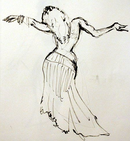 450x487 Charlotte Simpson Drawing Belly Dancers
