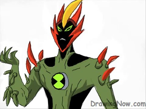480x360 How To Draw Swampfire From Ben 10 Alien Force
