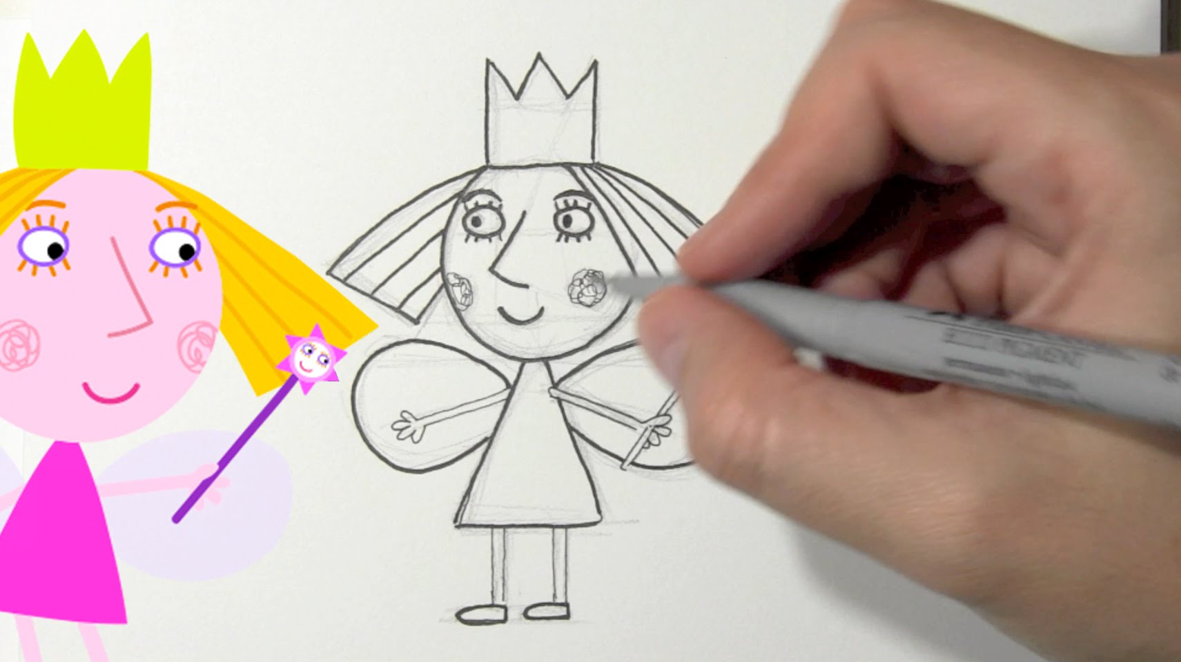 1711x959 How To Draw Princess Holly From Ben And Holly's Little Kingdom