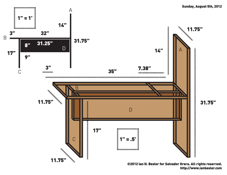 900x696 Drawing Bench Plans Drawing Bench Diagram Cool School Stuff