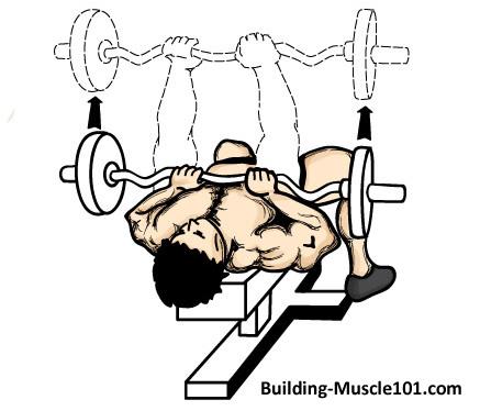 437x374 Close Grip Bench Press