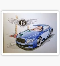 210x230 Bentley Drawing Stickers Redbubble