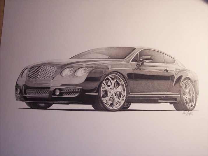 714x536 Bentley Gt Finished By Sketchesbychris