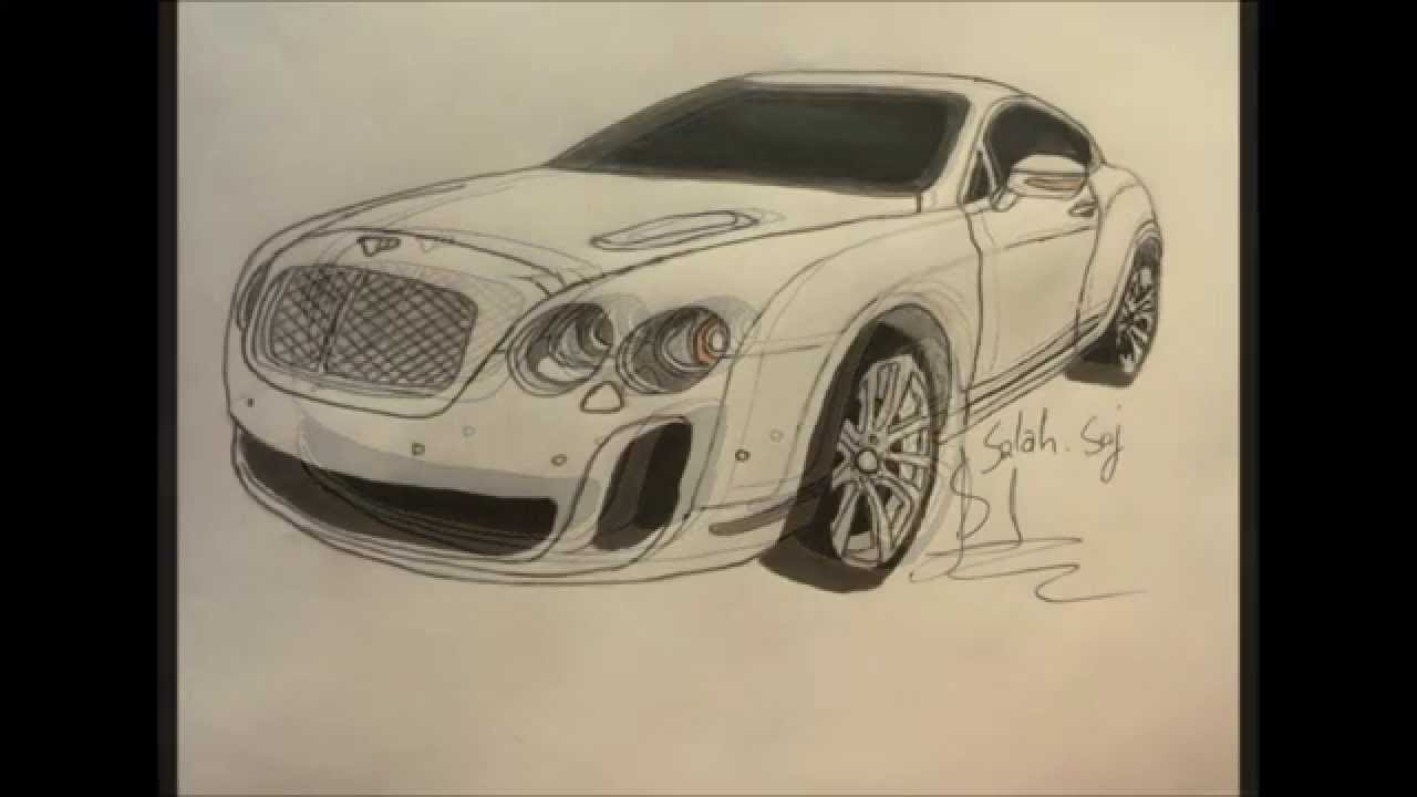1280x720 The Best Drawing Of The Bentley Gontinental