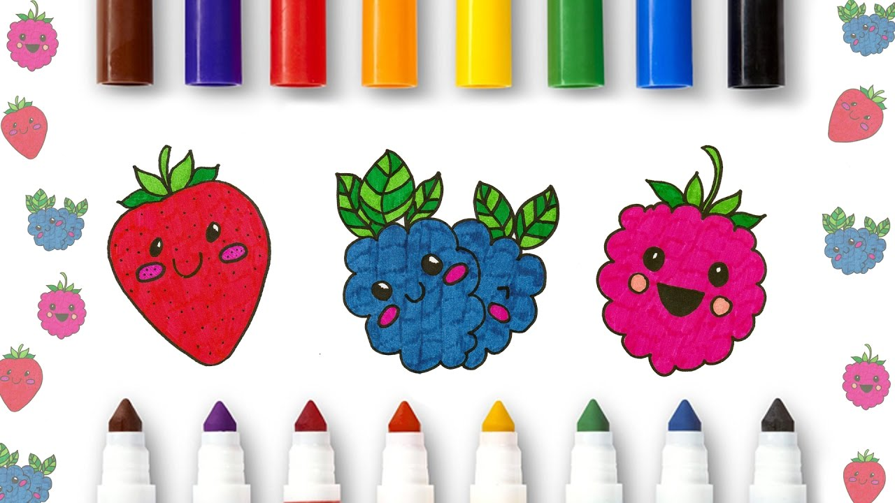 1280x720 Coloring Fruits For Kids Learning About Aggregate Fruits
