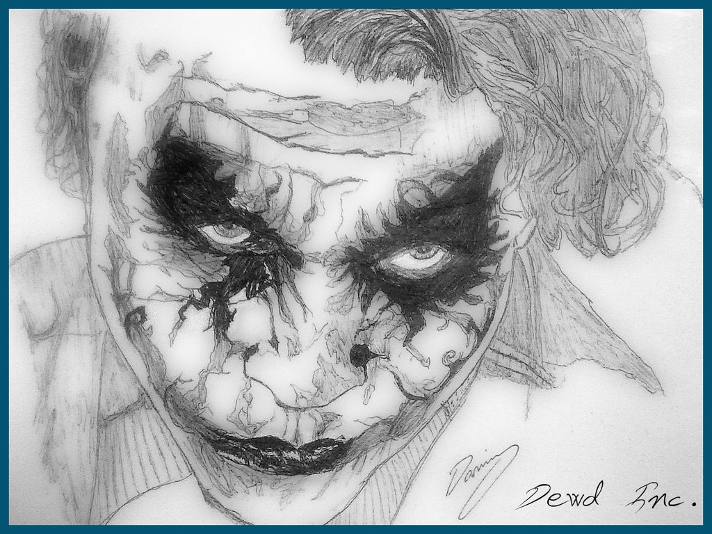 1024x768 Befunky Best Joker Drawing By Changeofheart2785