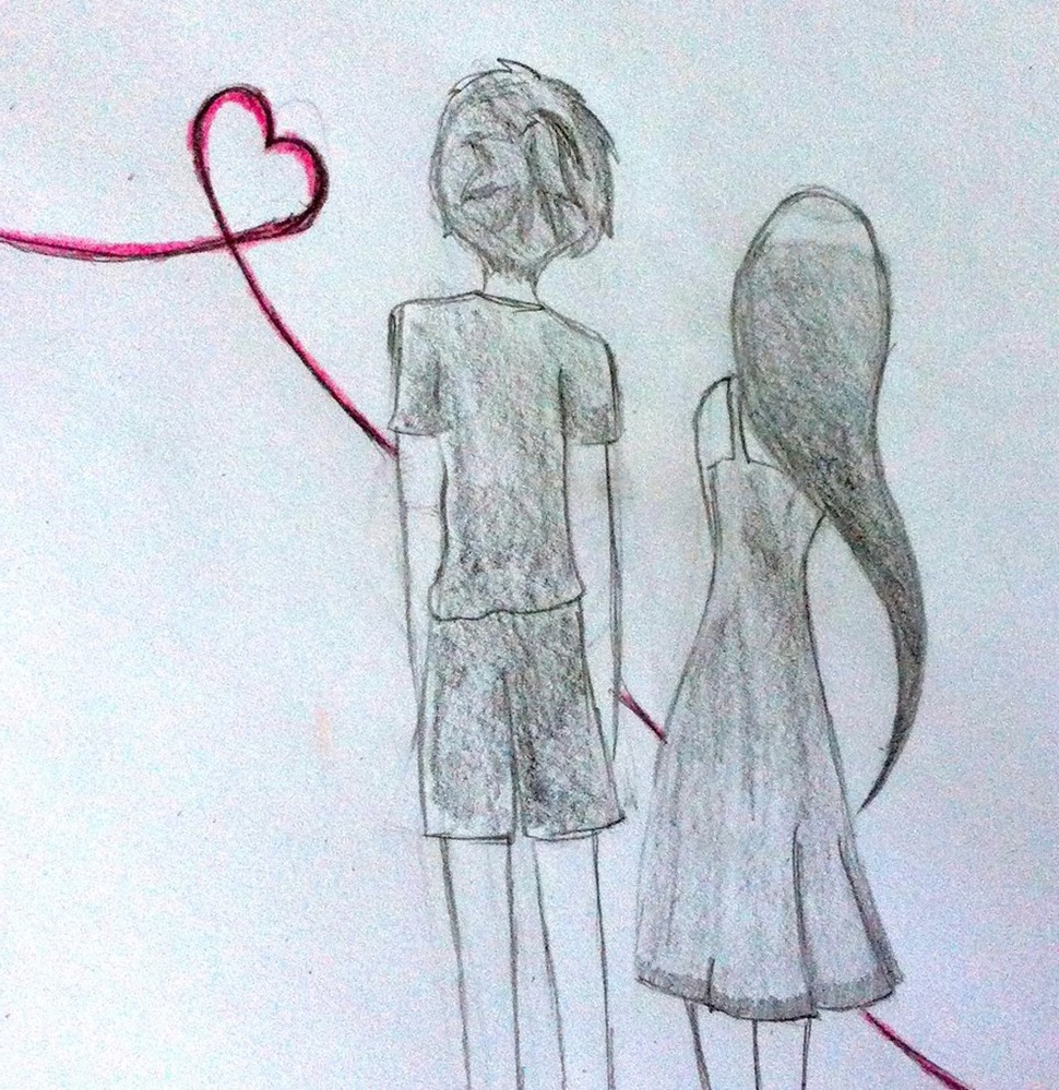 970x999 Boy And Girl Best Drawing Image