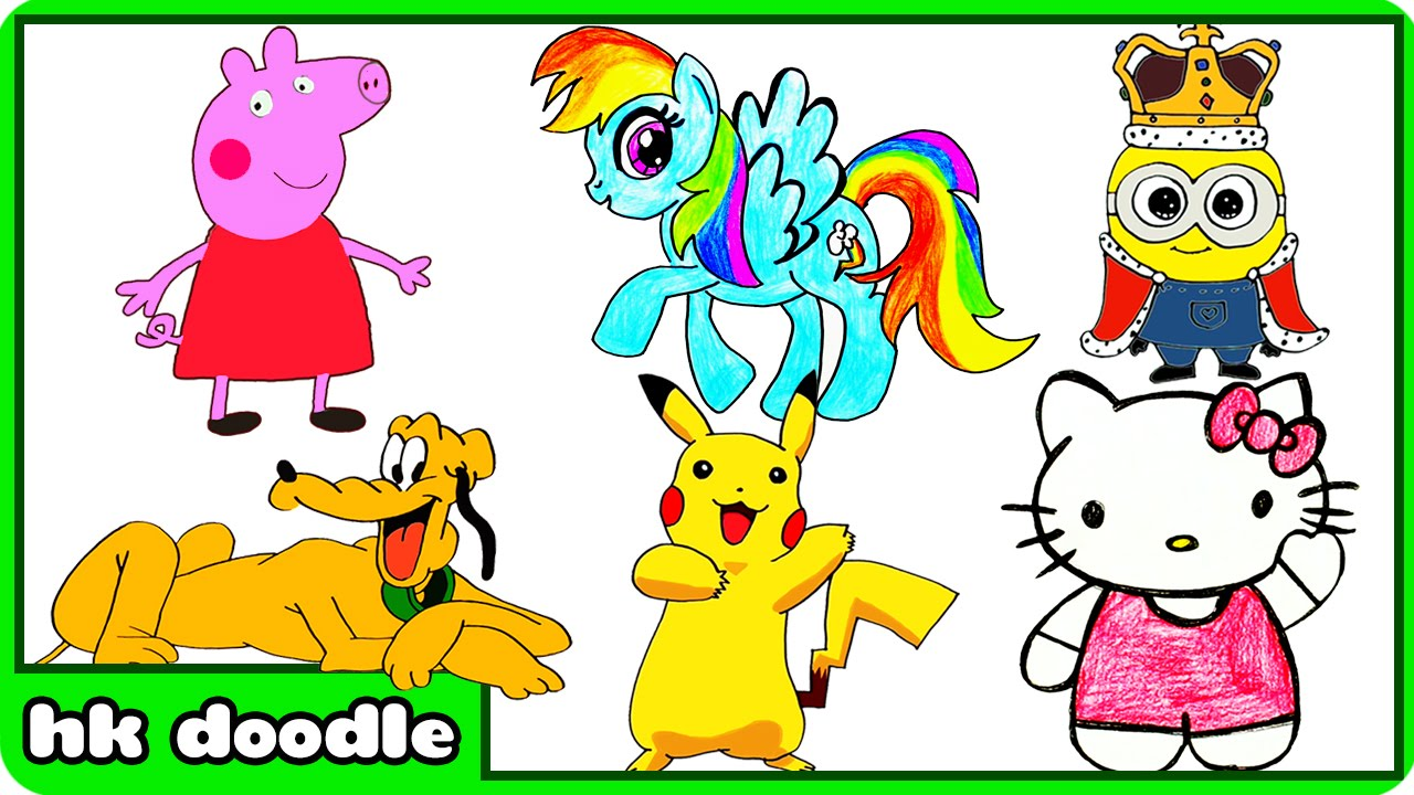 1280x720 How To Draw Peppa Pig And Other Cute Animal Drawings