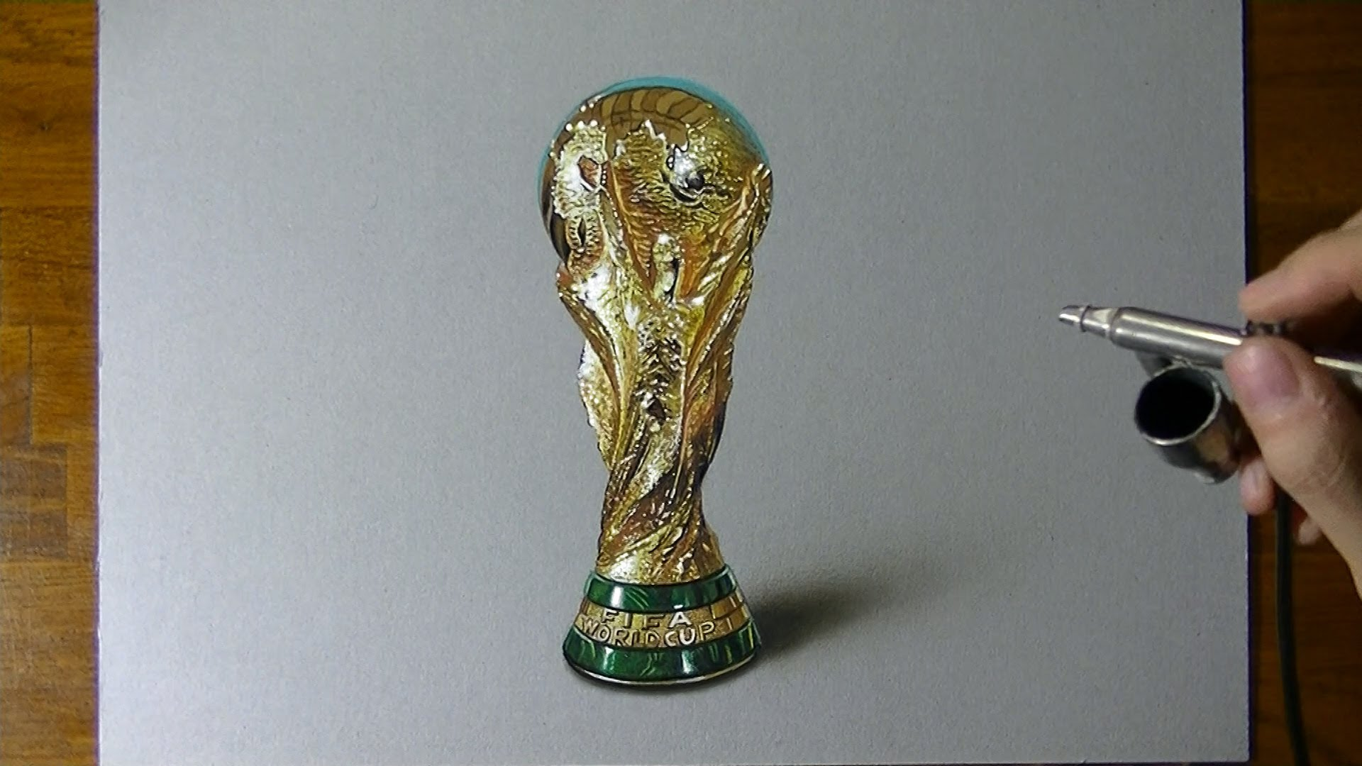 1920x1080 Amazing 3d Drawing Of Fifa World Cup Trophy