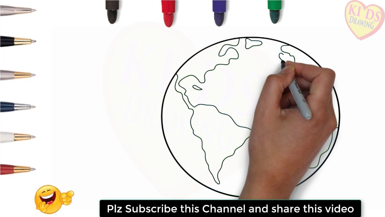 1280x720 Drawing A World Map Best Of How To Draw World Map For Kids Step By