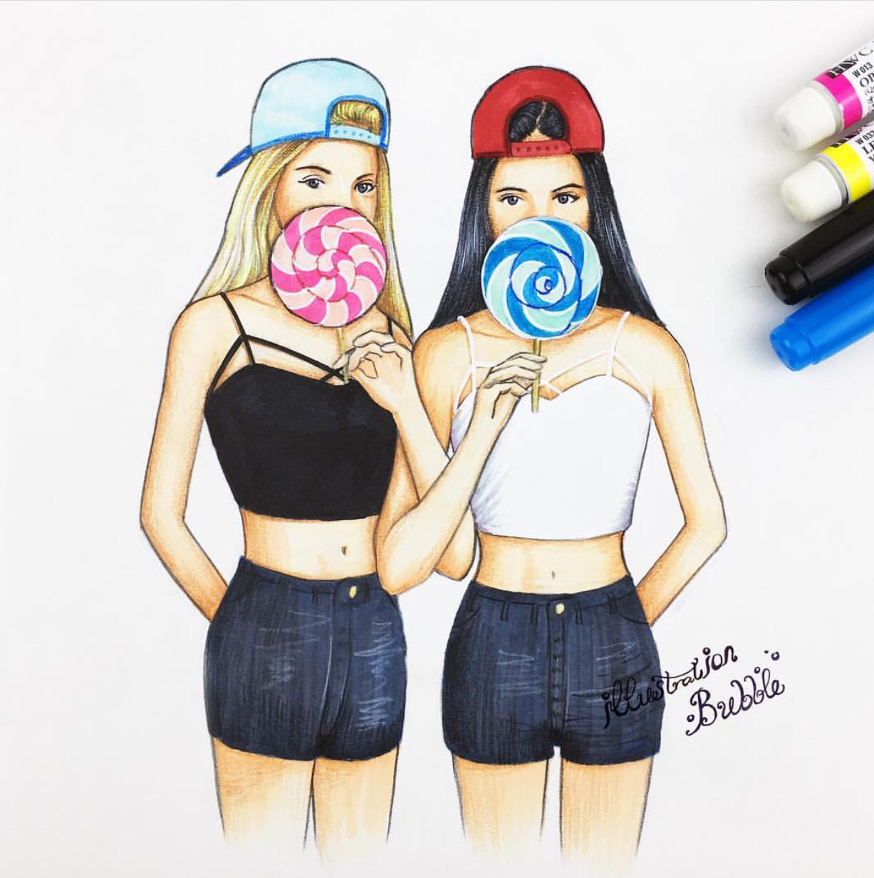 Best Friends Drawing at GetDrawings | Free download