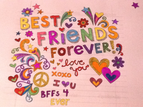 500x375 Drawing Best Friends Forever (Bff) On We Heart It