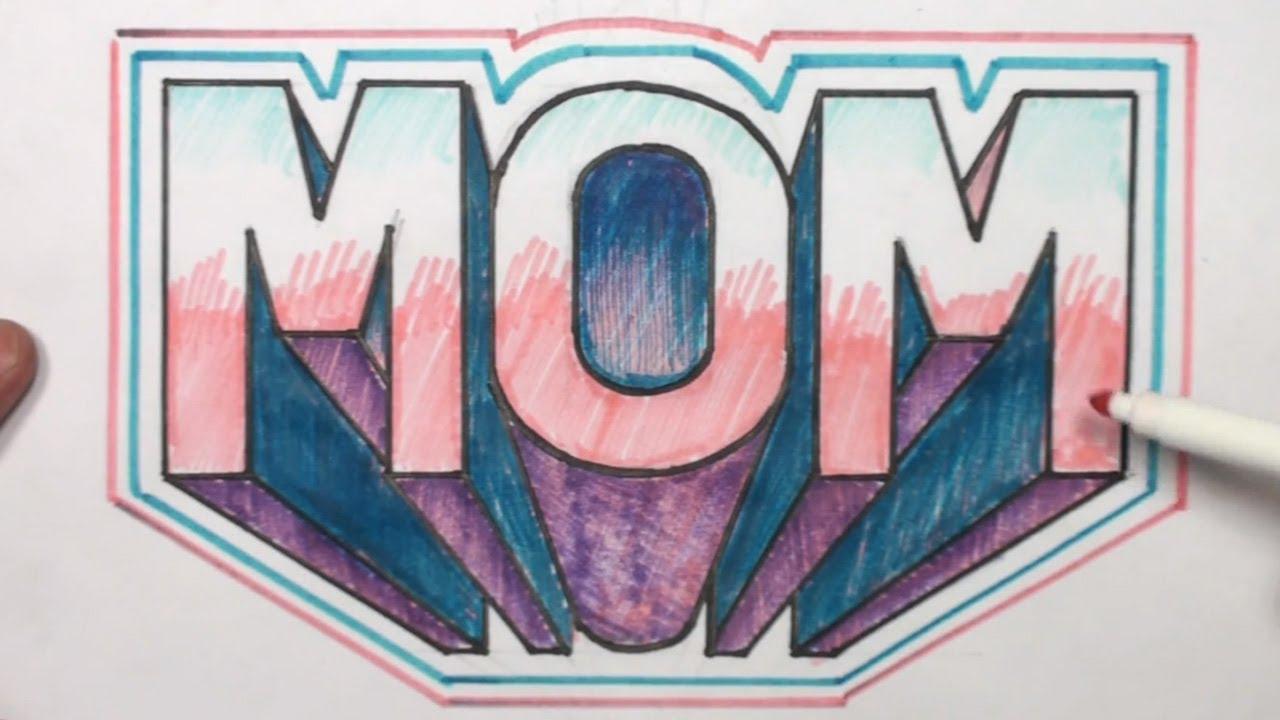 1280x720 Drawing Graffiti Mom Draw Best Mom